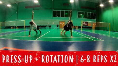 press up and rotation